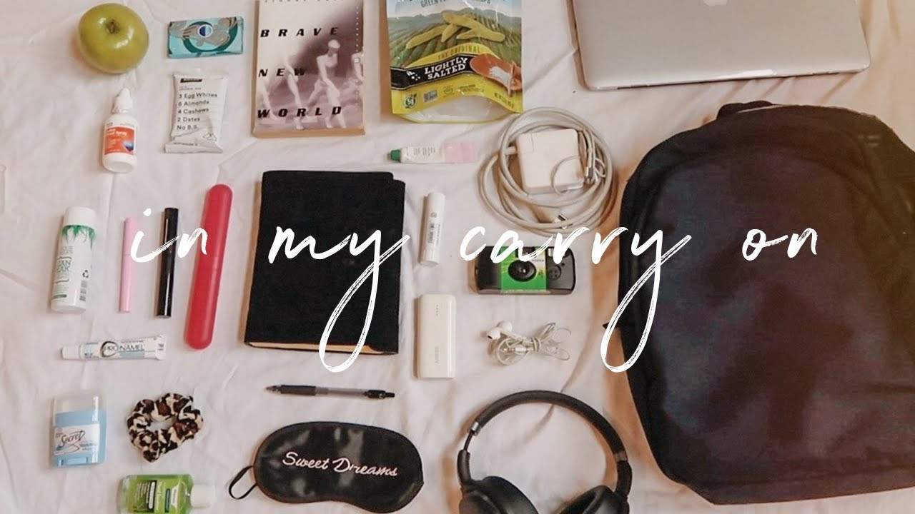 what's in my carry on & travel essentials