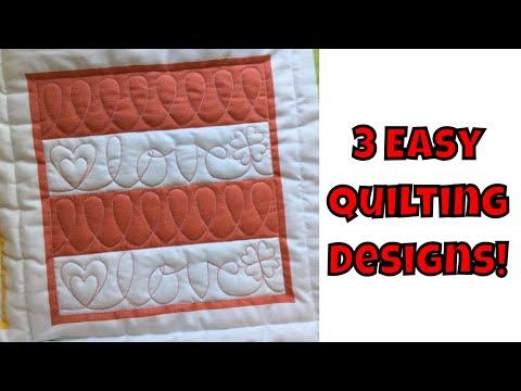 Three Easy Machine Quilting Designs Beginner Quilting Tutorial