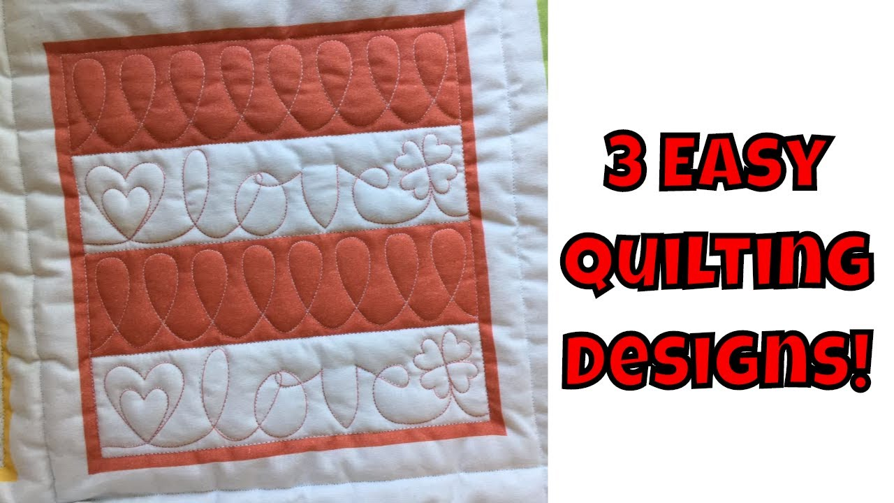 image relating to Free Printable Machine Quilting Designs known as 3 Basic System Quilting Styles - Newbie Quilting Guide with Leah Working day