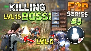 KILLING LEVEL 15 FOREST MINIBOSS ON LEVEL 5! NOOB TO PRO PART #3 - F2P SERIES - LifeAfter