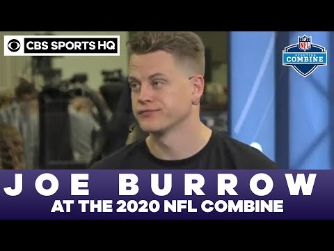 Joe Burrow Speaks With The Press At The 2020 NFL Combine | CBS Sports HQ