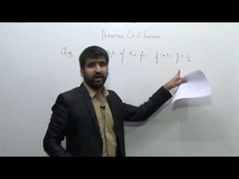 Differentiation-1.Significance of Derivative of a function