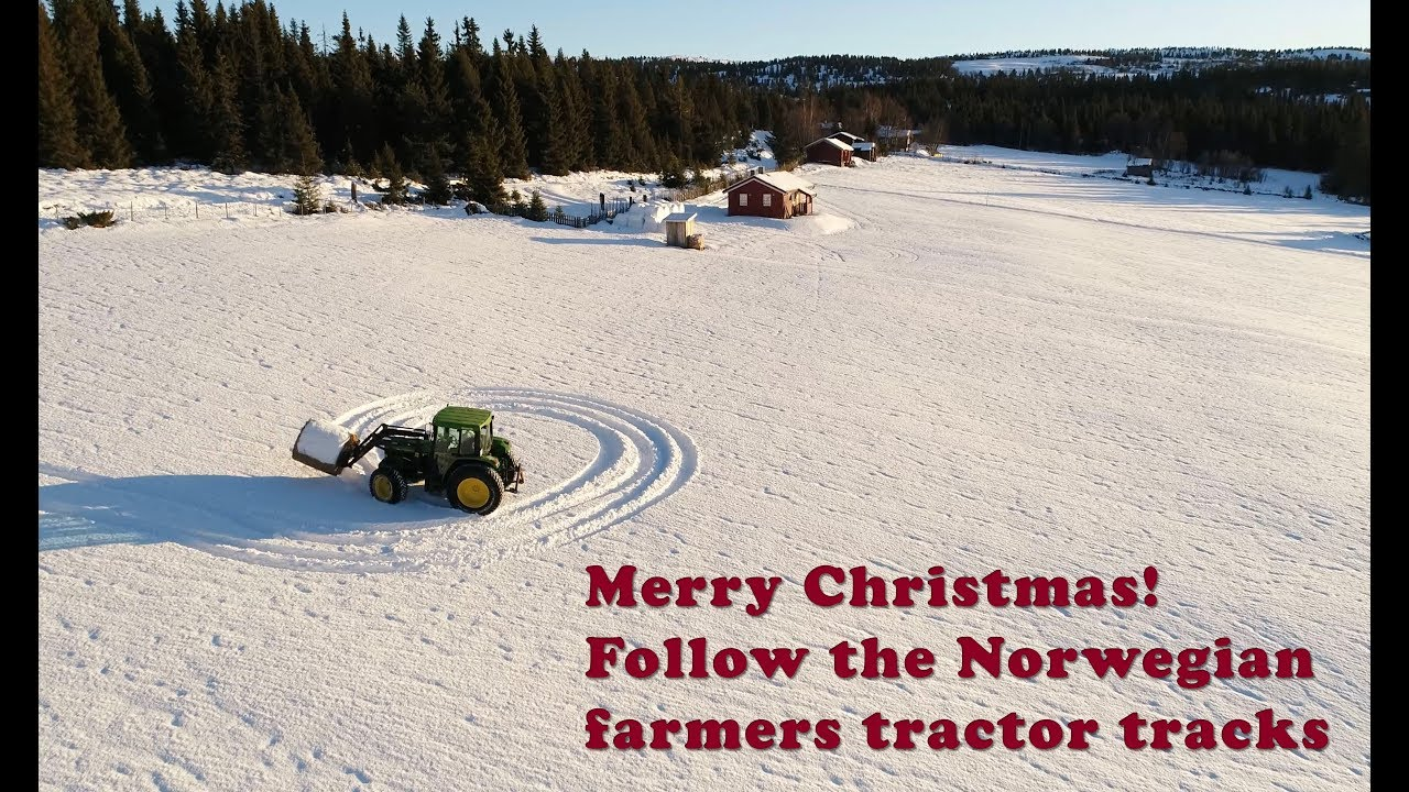 Merry Christmas In Norwegian.Merry Christmas Follow The Norwegian Farmer S Tractor Tracks
