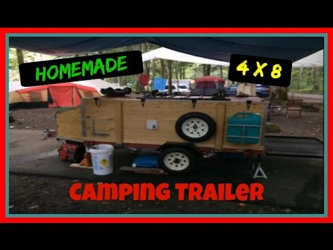 My 4x8 Harbor Freight Camping Trailer Build Youtube