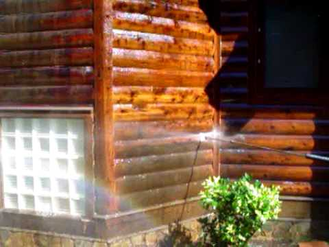 Removing a solid oil stain youtube How to stain log cabin
