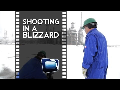 Film Scene - Shooting In A Blizzard And In A Black Hawk Helicopter