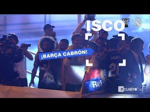Isco: ¡Barça Cabrón! - Celebracion Cibeles Real Madrid - Liga 2017