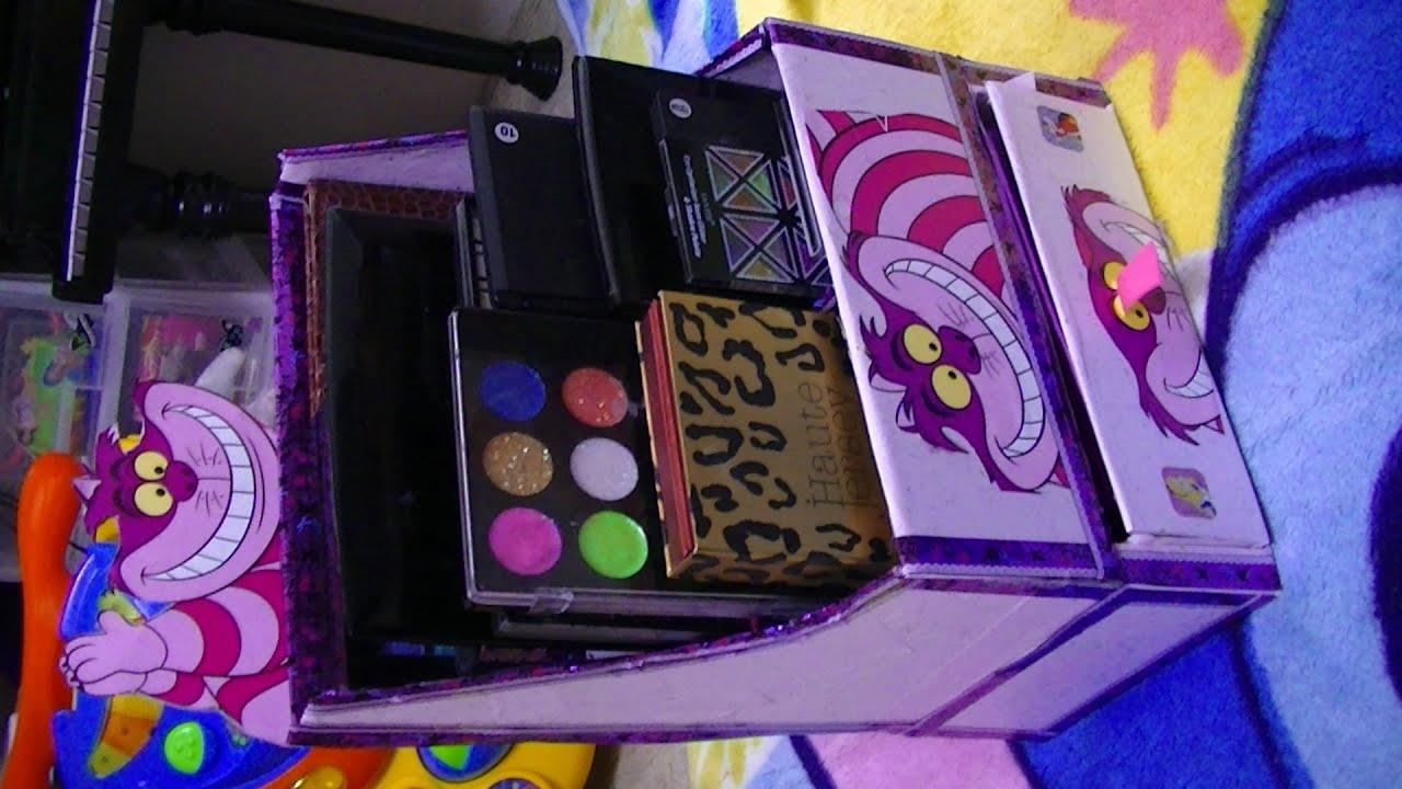 Manualidades organizador de paletas de maquillaje - Manualidades con cajas de zapatos ...