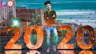 PicsArt With KineMaster fire effect Happy New Year 2020 Photo Editing Tutorial in Picsart New Upd
