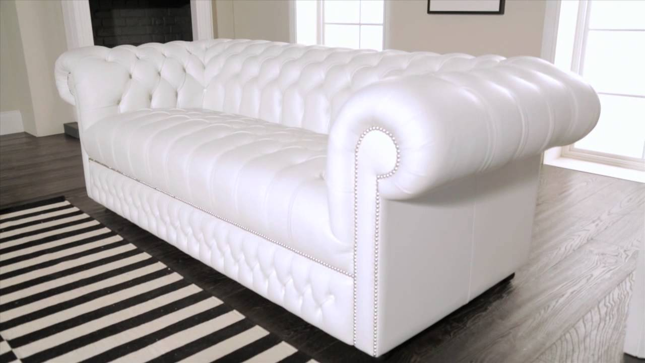 White chesterfield chair - White Chesterfield Chair 56