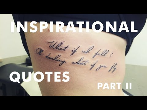 The Best Inspirational Tattoo Quotes
