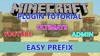 Minecraft how to get prefix's