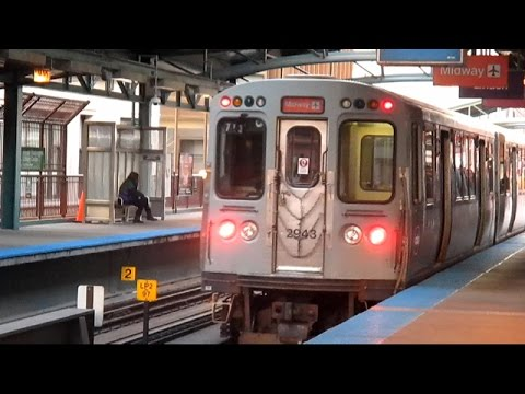Chicago Transit Authority 'L' Train - Orange Line (Midway to Loop)