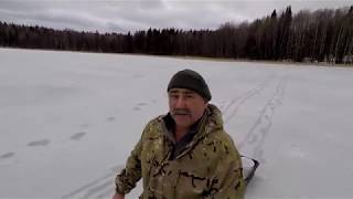 Рыбалка на капканы в плохую погоду на озере Янисъярви