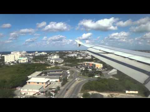Landing in: GCM Owen Roberts International Airport in Grand Cayman on JetBlue 765