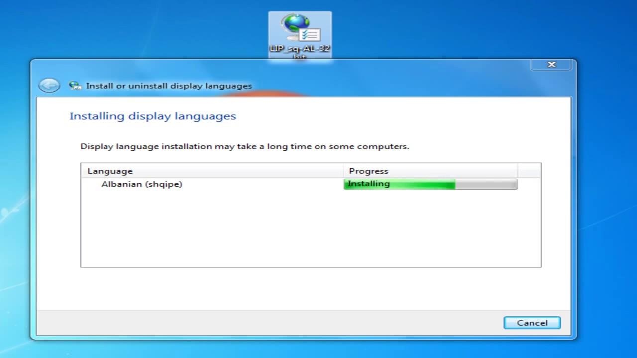 how to change arabic to english language in windows 7