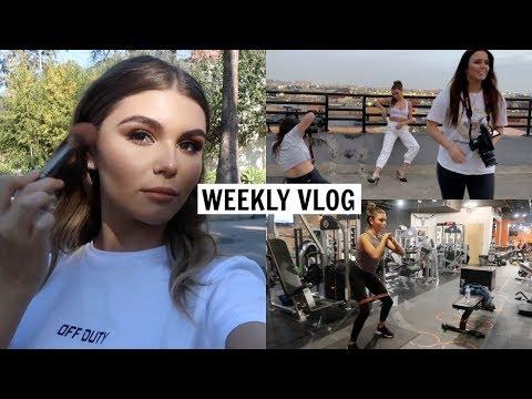 VLOG l workout routine, college, photoshoot, etc.