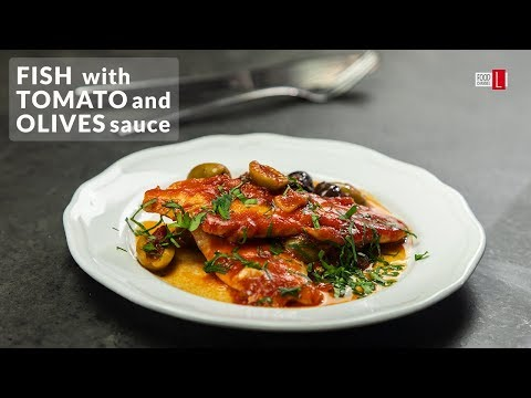 Fish With Tomato And Olives Sauce | Food Channel L - A New Recipe Every Day!