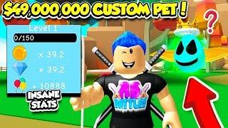 Ich habe ein 49.000.000 $ CUSTOM PET IN DIESEM SIMULATOR erstellt!! *SO OP* (Roblox)