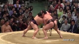 2017年大阪場所での白鵬 vs 豪風の取組。
