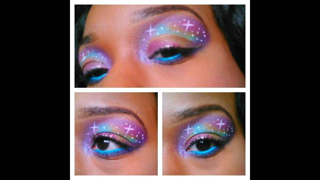 Galaxy Eyes! Makeup Tutorial! - YouTube
