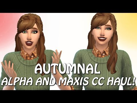 The Sims 4:  FALL CC HAUL // ALPHA & MAXIS + ALL LINKS! thumbnail