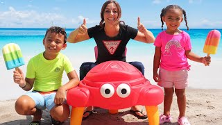 Children Buy Ice Cream on the Beach + More Nursery Rhymes & Kids Songs - Leah's Play Time
