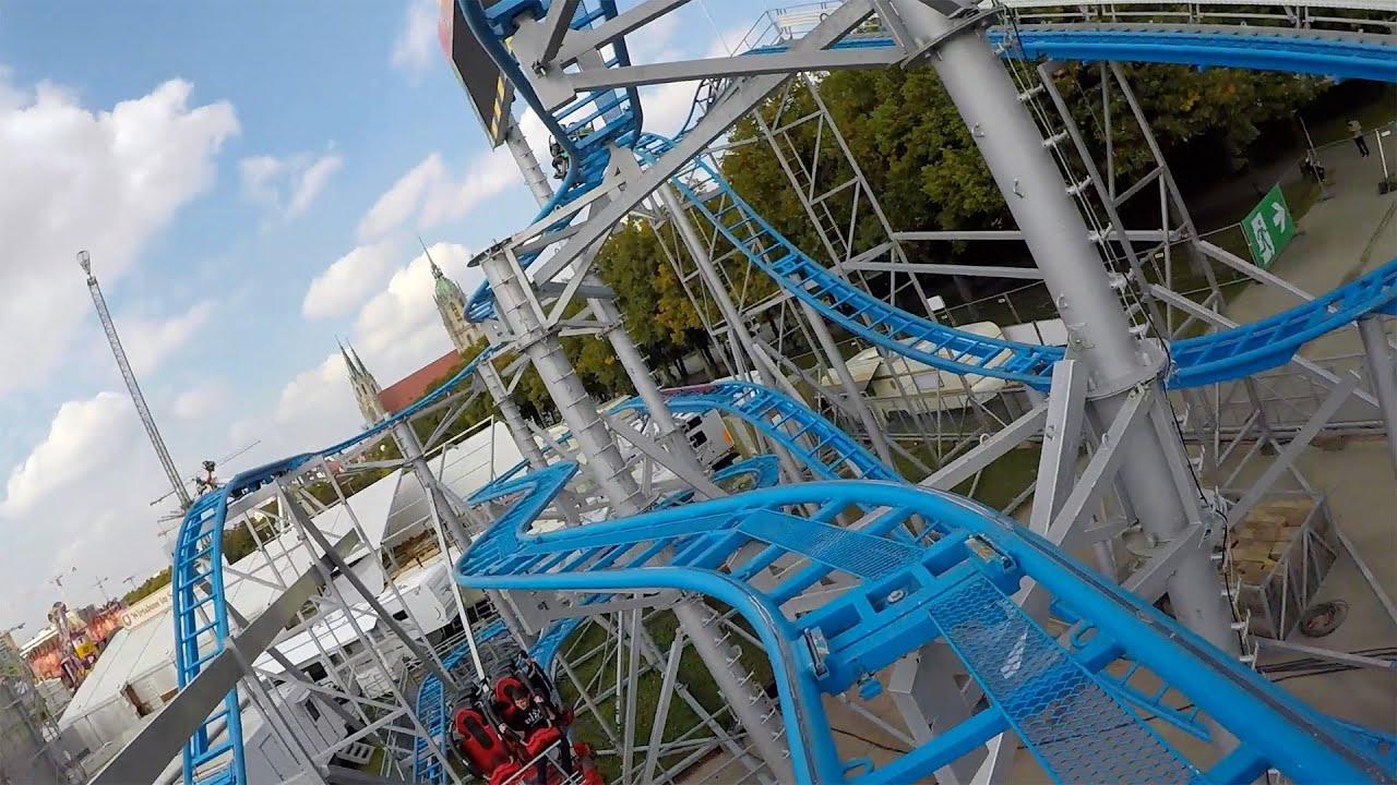 INSANE Swinging Roller Coaster - Oktoberfest Germany Front Seat POV
