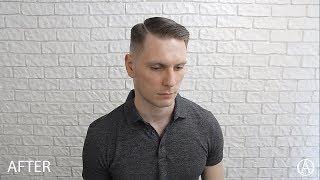 Мужская стрижка с искуственным пробором / Men haircut 2018