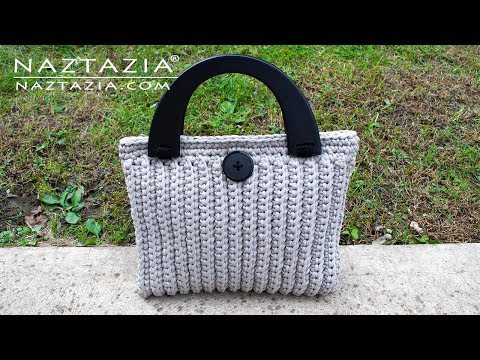 How to Crochet the Lorrie Bag – Easy Elegant Purse Tote Handbag by Naztazia