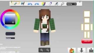 Minecraft Skin Speed Art [Hipster Gamer Girl]
