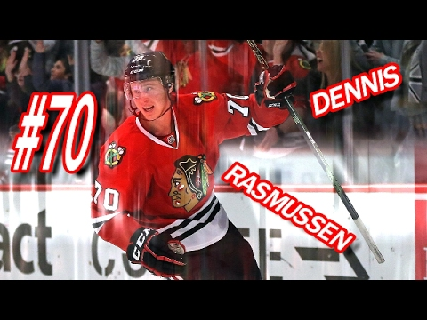 CHICAGO BLACKHAWKS DENNIS RASMUSSEN HIGHLIGHTS 2016 - 2017 (HD)