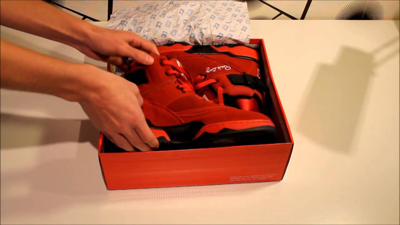 size 40 2dee6 b89b7 Ewing Athletics Ewing 33 HI Red Review + On Feet - YouTube