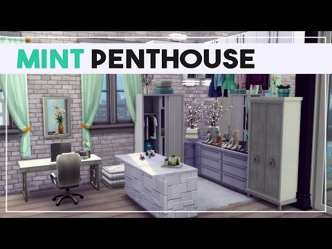 Mint Penthouse | Not So Berry Challenge Speed Decoration | The Sims 4