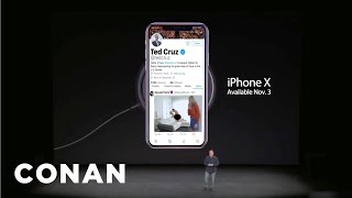 Ted Cruz's Twitter Scandal Overshadowed The Apple Keynote  - CONAN on TBS