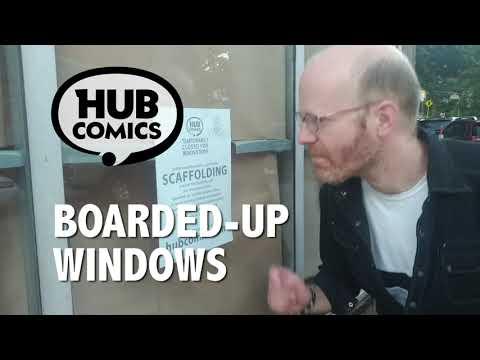 "Hub Comics - Ad - 2020-08-11 ""Boarded-Up Windows"""