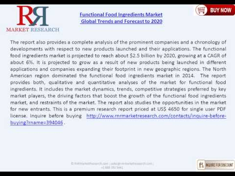 Functional Food Ingredients Market Overview & Global Forecast to 2020