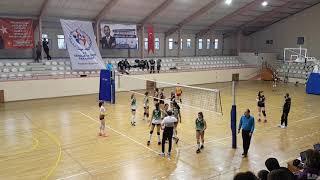 GALATASARAY - Bahçelievler Belediyespor BBSK Kucuk Kizlar Voleybol Maçı 2.Set
