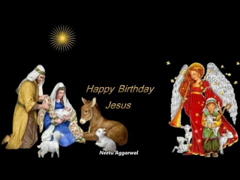 Happy Birthday Jesus *Merry Christmas* Animated Wishes - YouTube