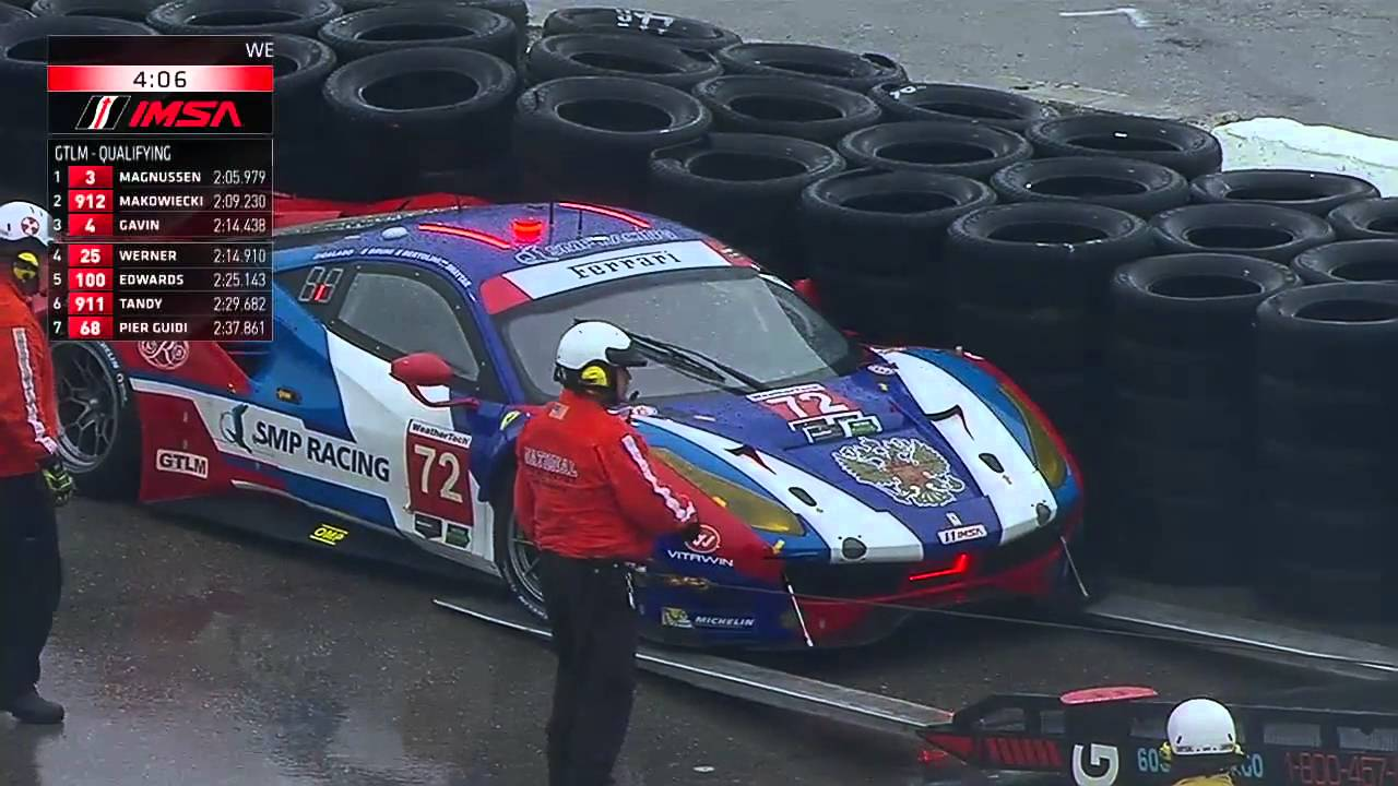 Ferrari  Gte Crashes In  At Daytona Qualifying
