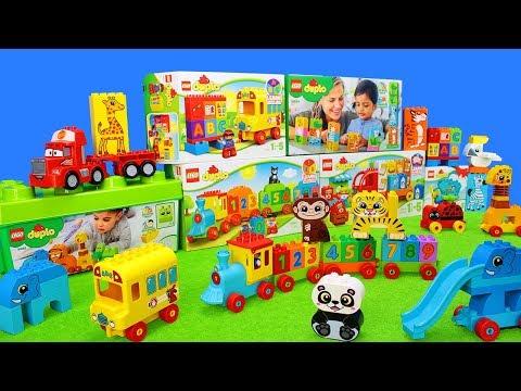 Lego Duplo 123 Spielzeug Unboxing Kinderfilm: Farben, Zahlen & Buchstaben zum Lernen für Kinder