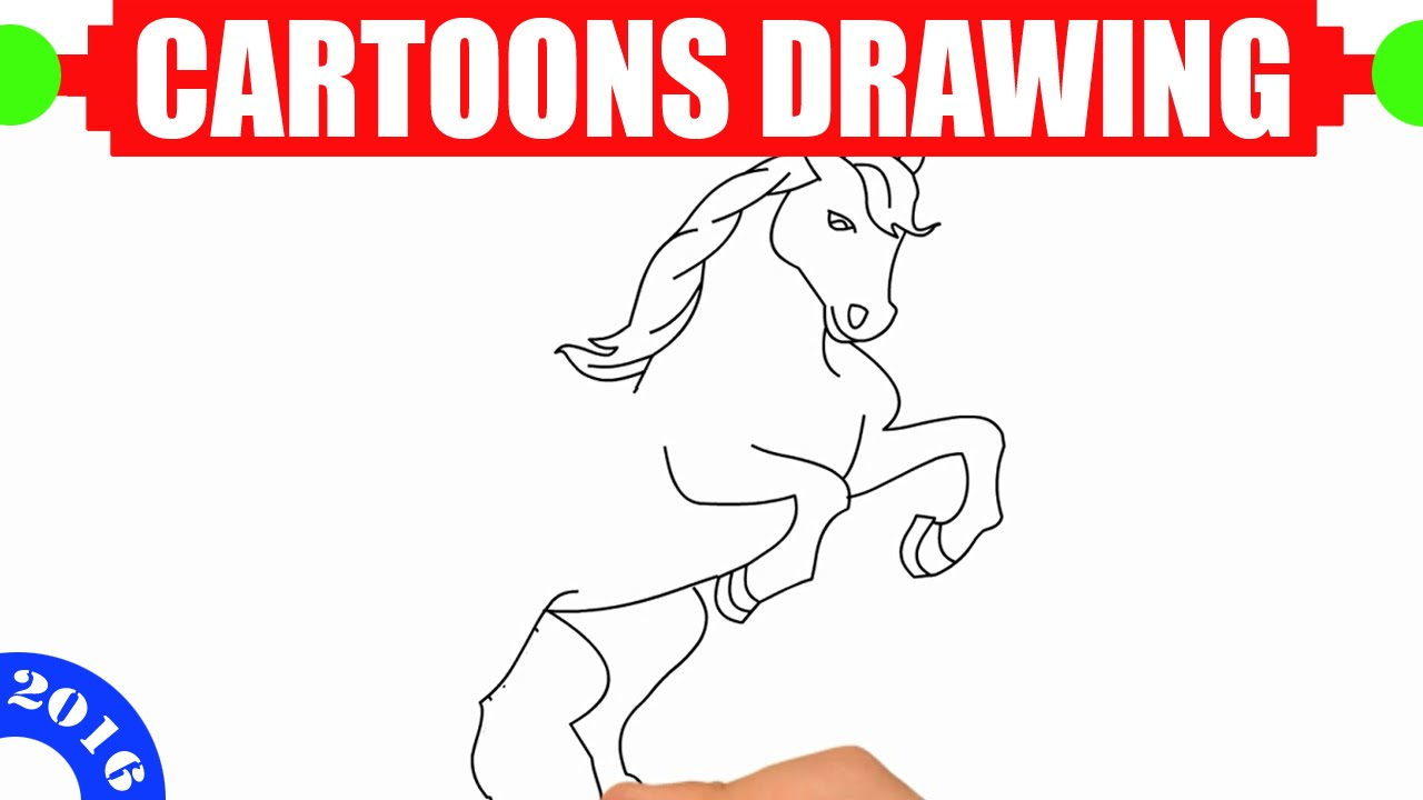 How to draw a horse EASY for kids in 2 MINUTES Easy and simple