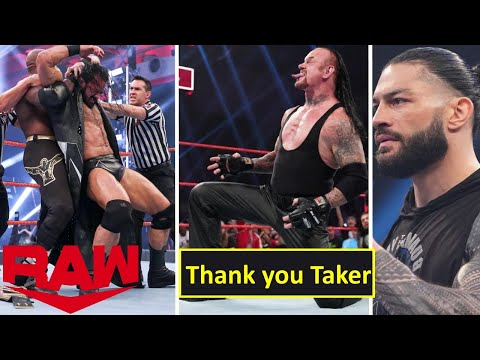 WWE Monday Night Raw 22nd June 2020 Highlights Preview, Undertaker Retirement | Roman reigns Reacts