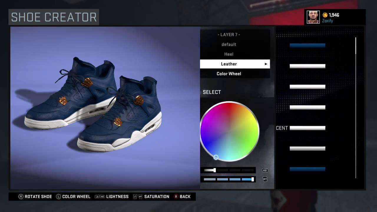 NBA 2K16 Shoe Creator - Air Jordan 4