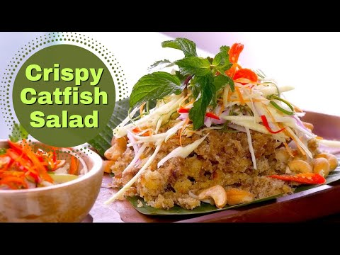 Thai Food Crispy Catfish Salad Recipe  ❤️️