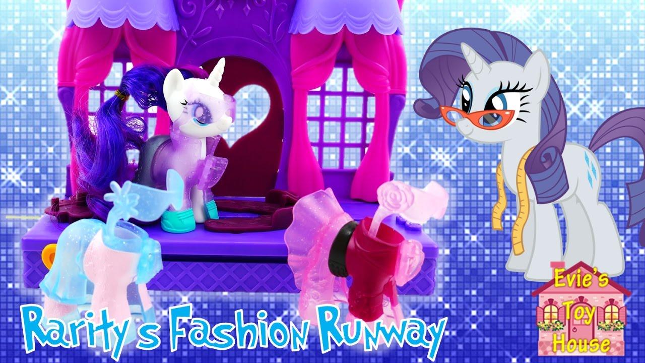 2017 New My Little Pony Playset Rarity Fashion Runway