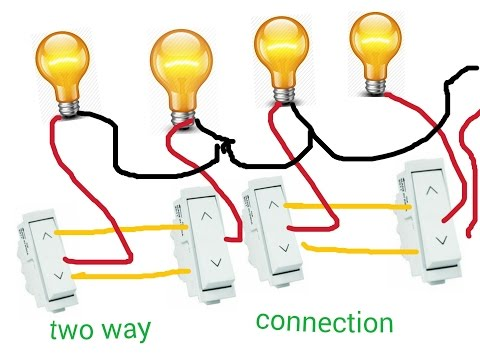 TWO WAY SWITCH CONNECTION for many more lights in HINDI (Hindi/Urdu)- YouTube SEO Electro Technic