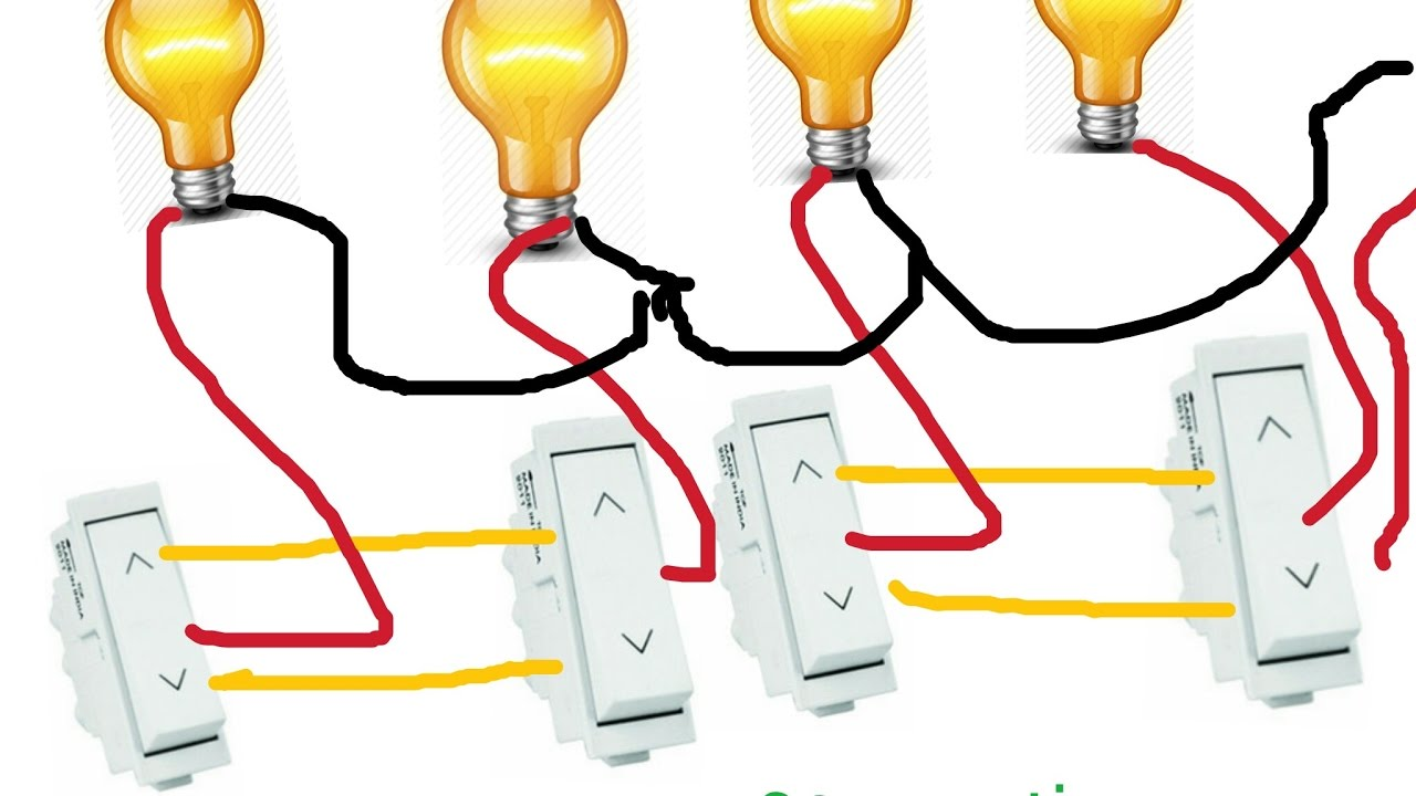 TWO WAY SWITCH CONNECTION for many more lights in HINDI