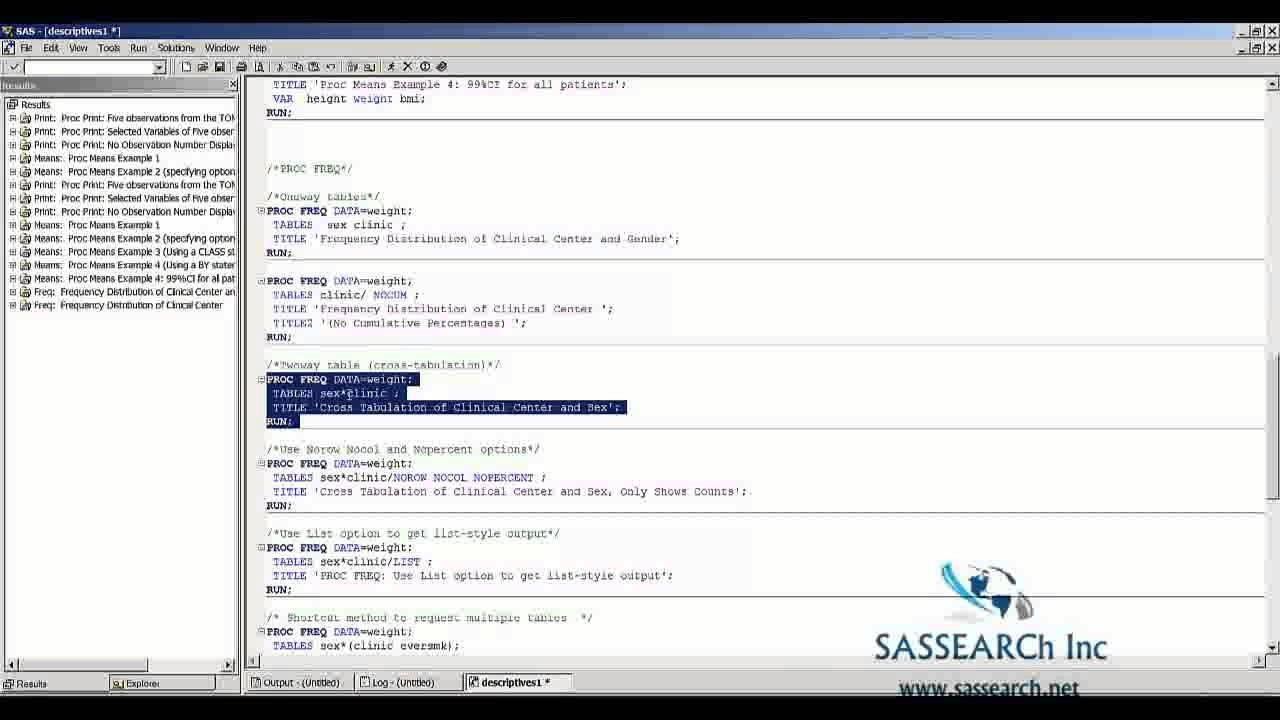 Base sas programming lesson 7 descriptive statistics in sas base sas programming lesson 7 descriptive statistics in sas 1betcityfo Images