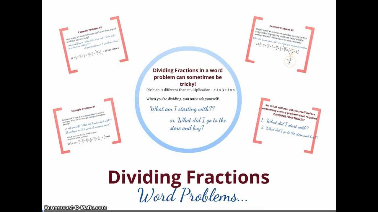 Dividing fraction word problems youtube robcynllc Choice Image